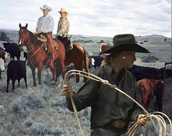 Trail of Broken Hearts      * Western Art, Cowboy, Cowgirl, Ranch, Cattle, Horse, Rustic