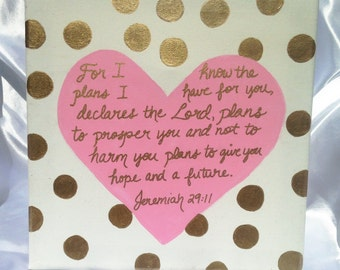 Dots and Heart Wall Art with Quote