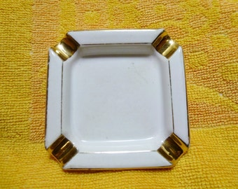 Vintage Small Cream Coloured Ashtray