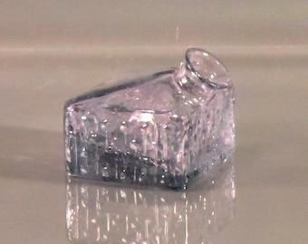 Small Blown Glass Square Bud Vase - Eco Friendly