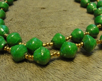 Ugandan Beaded Necklace Green - Adoption Support