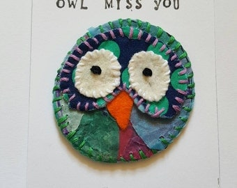 Owl miss you/ Thank you/ Leaving gift/Goodbye/magnet