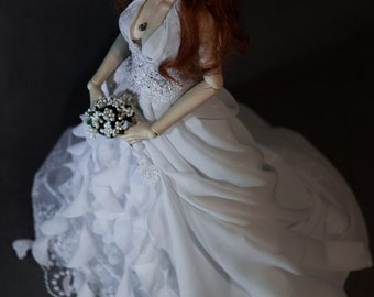 SD BJD Wedding dress, BJD Dress, Wedding dress, bjd clothes