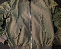 Custom Made Lightweight Olive Bomber Jacket (Fear Of God Inspired)