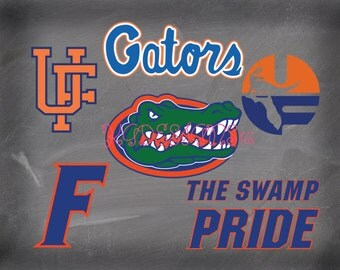 University of Florida Gators Football-Vinyl Decal-Swamp Pride-Coffee Mug-Canvas-Decor-College-Yeti