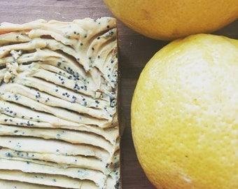 Lemon Poppyseed, Handmade Soap, Foodie Soap, Cake Soap, Cold Process Soap