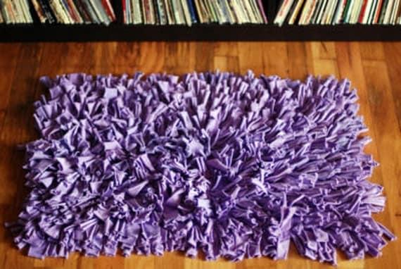 Huge Jersey Coils Art Rug - Approx 3 feet x 5 feet - Blue Purple