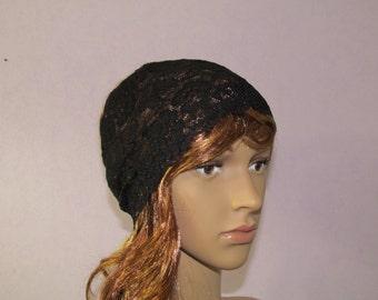 black Lace Headband, Boho headband, Stretch lace, headbands, Bohemian headband, Forehead headband
