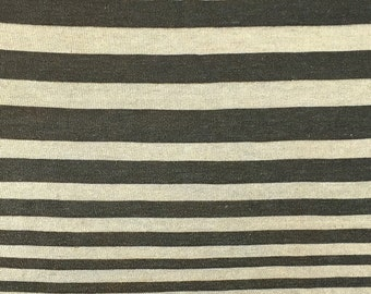 Striped Rayon Linen Fabric