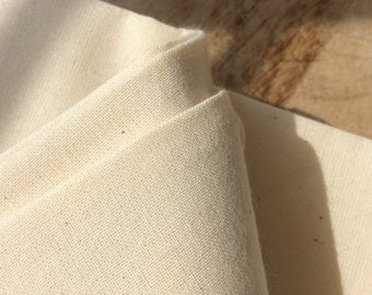 Organic Cotton Calico, Natural Unbleached Fabric for Crafting and Making