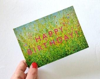 Happy birthday postcard, birthday card