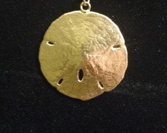 14k sand dollar necklace