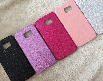 Hand Crafted Glitter hard phone case To Fit Samsung Galaxy S6