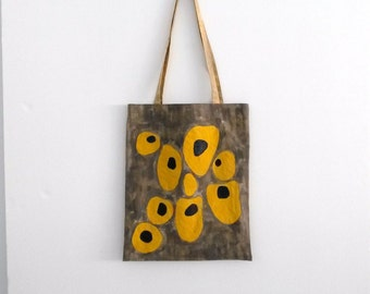 handpainted tote bag  'sunny side up'
