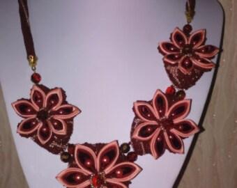 Handmade Kanzashi necklace