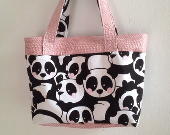 madison panda tote bag pink