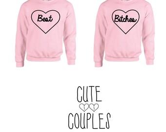 Best bitches couple hoddie friends sweater