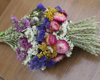 Dried flower bridal bouquet,Rustic bridal bouquet,Wedding bouquet,Rustic wedding,Wild flower bouquet,Dried flowers,dried flower arrangement