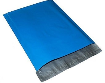 "25 6""x 9"" Blue Poly mailers Envelopes Self Seal Plastic Bags Color"