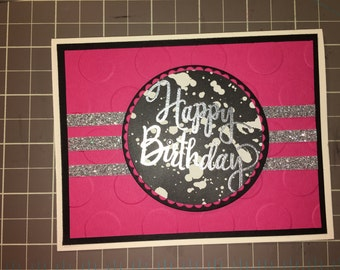 Hand Stamped Birthday Card using © Stampin' Up! images and products