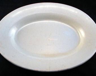 1800s Mellor, Taylor & Company White English Ironstone Dish