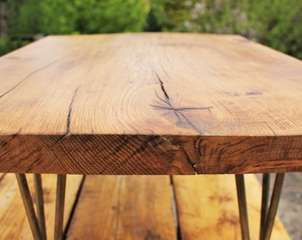Bespoke Solid oak side table