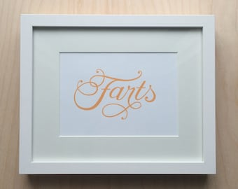 Fart of Gold Print