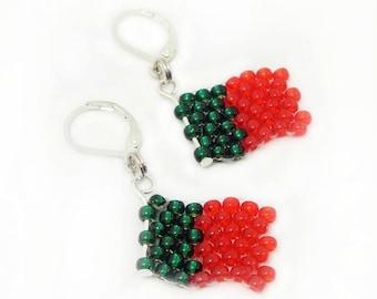 EM earrings - flag Portugal - football euro 2016 - merchandise (BS-1315)