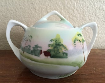 Hand painted sugar bowl from the 1930's