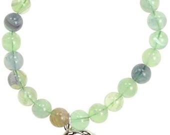 Green Fluorite Tree Of Life Bracelet