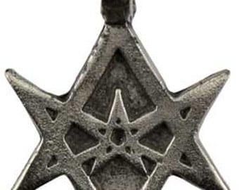 Unicursal Hexagram Thelema Amulet
