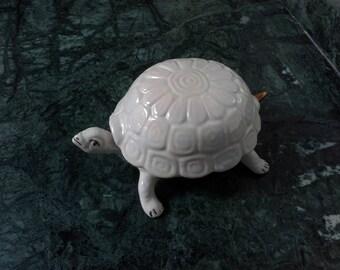 Fine French Porcelain Turtle, White Fine porcelain VINTAGE
