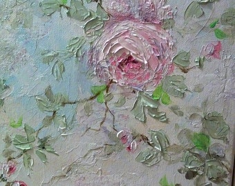 Shabby pink Roses Original Painting