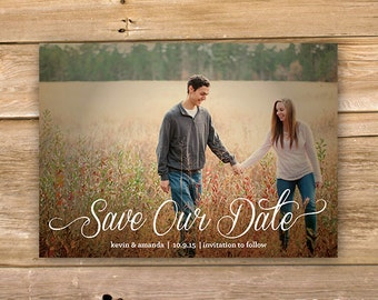 Save the Date, Wedding announcement, Image, script, text,  printable, instant download