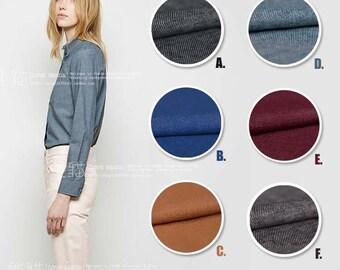 Japanese Twill Cotton Linen Blend Fabric Blue Matte Linen Fabric for Fall/Spring Shirt Dress Handcraft