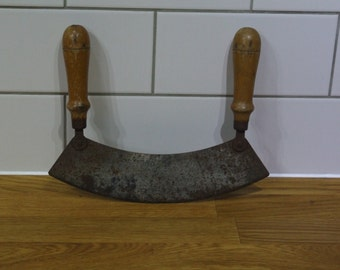 Articulated Curved Herb Chopping Knife