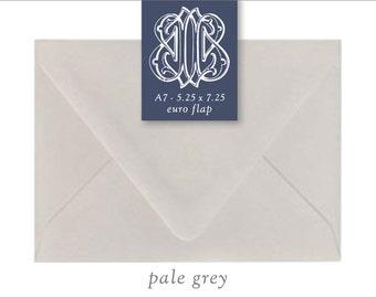 Pale Grey | 10 Blank A7 Euro Envelopes