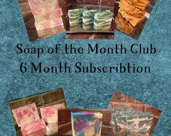 Soap of the Month Club 6 month subscription