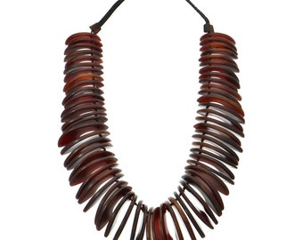 Gerda Monies Vintage Tribal Horn Necklace