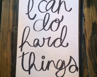 i can do hard things poster
