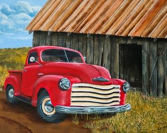 Chevy Truck Painting, an original  acrylic painting
