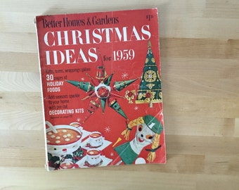 Vintage 1959 Better Homes Gardens Christmas Bhg December Magazine Periodical Gift Ideas Holiday Food
