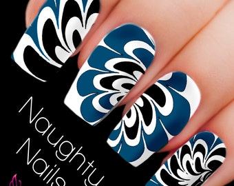 DANCE Water Marble Nail Decal DIY Nail Tattoo Transfer Holo