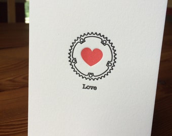 Bike Love Letterpressed Notecard
