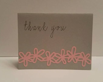 Thank you card stationary of 5 cards