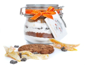 Bake at home Cookie Mix in a jar - Dark Chocolate and Orange