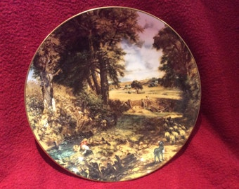 Crown Staffordshire John Constable The Cornfield Plate