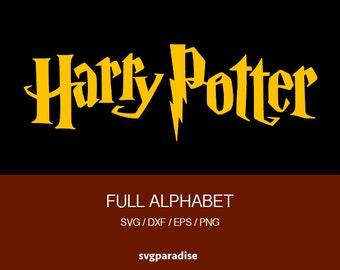 Harry Potter Alphabet Svg, Harry Potter Font Alphabet, Wizard Svg, Svg, Eps, Dxf, Png use with ...