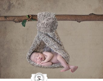 Newborn Digital Backdrop - Rustic Hanging Tree Branch Background Composite