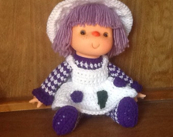 Grape Parfait Strawberry Crochet Doll
